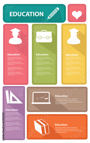 Education banners,Colorful version,vector