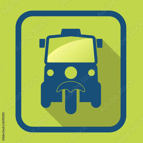 Sign tuk tuk in Bangkok of Thailand design vector illustration.
