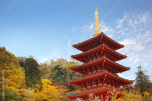 Japanese traditional architecture / Five-storied pagoda