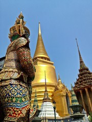 Architecture of Wat Phra Kaew Grand Palace, Bangkok, Thailand
