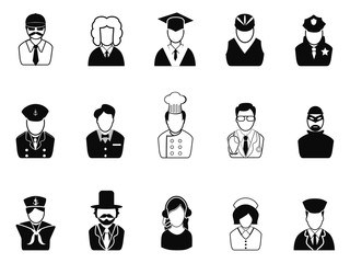 Occupations, Avatars ,User Icons set