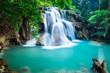 Huay Mae Kamin Waterfall in Kanchanaburi province, Thailand - 63913015