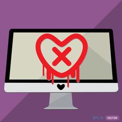 Heartbleed openssl bug vector shape, Stop Heartbleed