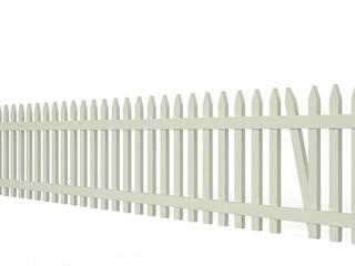 Fence with a hole, 3D