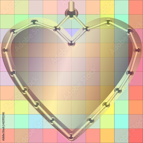 Decorative golden heart
