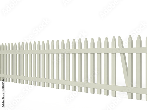 Fence with a hole, 3D