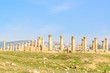 Ruins of Gerasa in the ancient Jordanian city of Jerash, Jordan