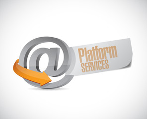online platform services illustration design