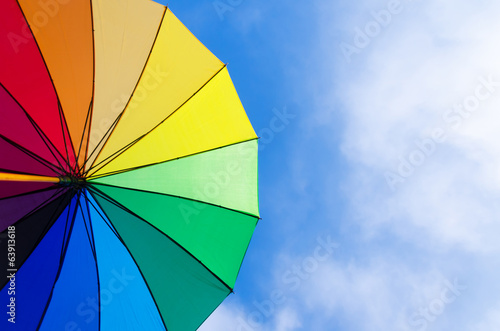 Rainbow umbrella's background