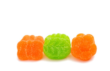jelly candies isolated