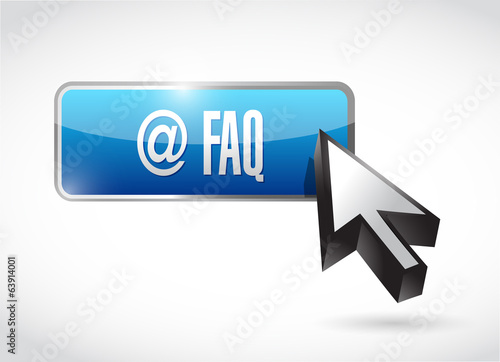 faq button sign illustration design
