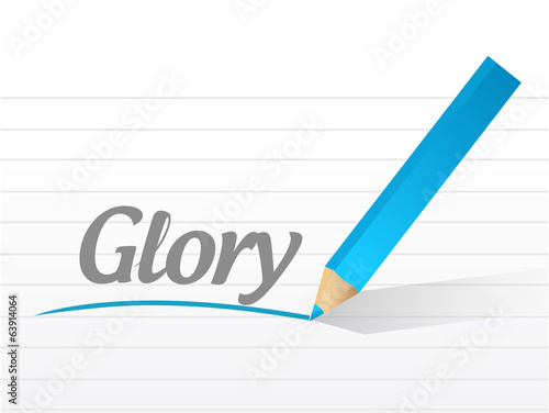 glory sign message illustration design