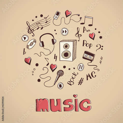 Sketch of music elements