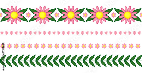 Flowers garlands set