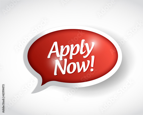 apply now message bubble illustration design