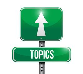 topic signpost illustration design