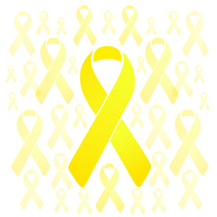 support our troops yellow ribbons illustration