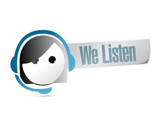 we listen customer support illustration