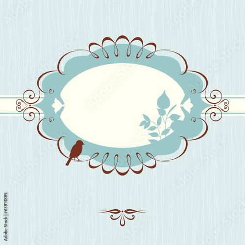 Ornate Banner Floral Blue
