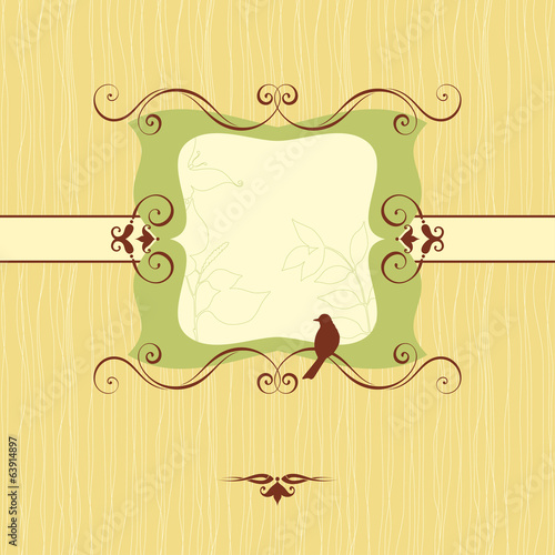 Ornate Banner Green Floral