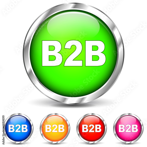Vector b2b chrome icons