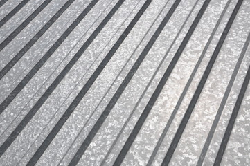 Corrugated sheet geometric pattern background