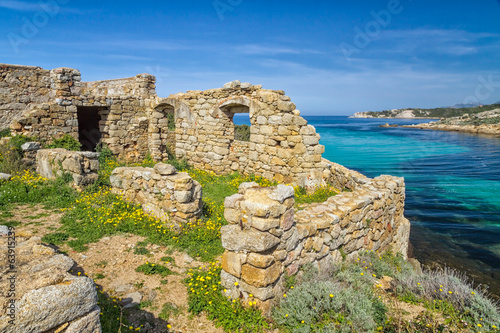 Ancient ruined building on the coast of Corsica