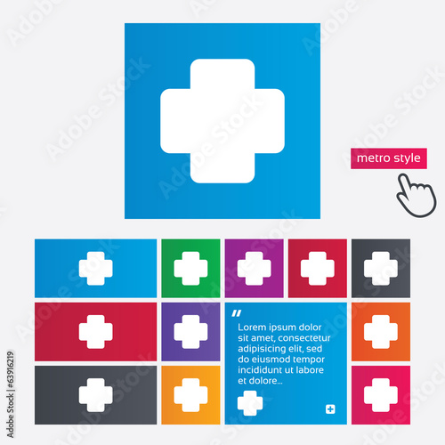 Medical cross sign icon. Diagnostics symbol.
