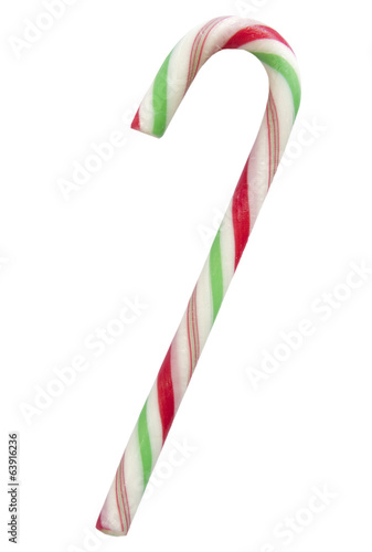 Xmas stick candy isolated.