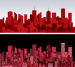 red cityscapes