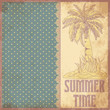 Summer time scrapbooking background in vintage style, vector