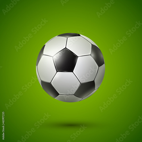 Soccer ball on green
