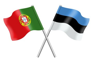 Flags: Portugal and Estonia