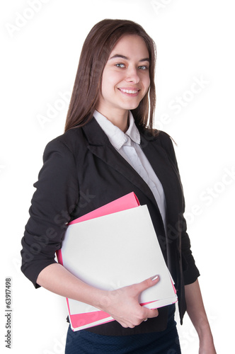 Schoolgirl with document case