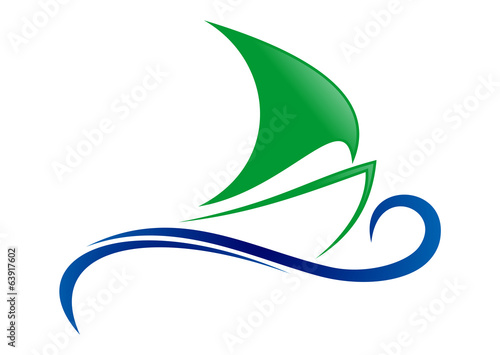 Sailboat wind sea