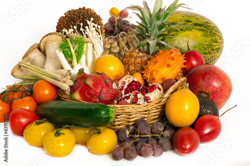 Exotic fruits and vegetables