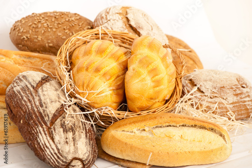 Fresh baked traditional bread