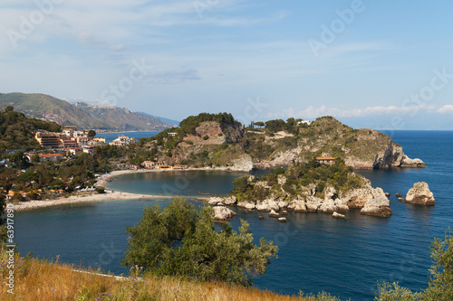 Beach at Taormina, Sicily.