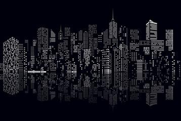 cityscape windows reflect