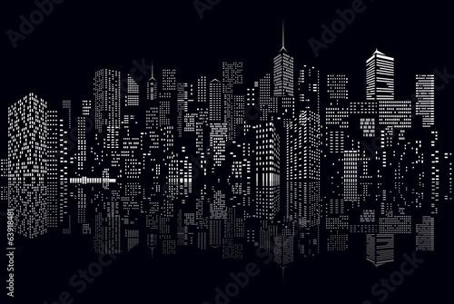 Fototapeta cityscape windows reflect