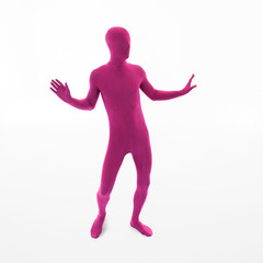 man dressed in pink dancing