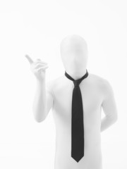 businessman with attention gesture