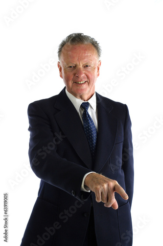 Senior man in a suit