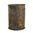 realistic 3d render of rusty can