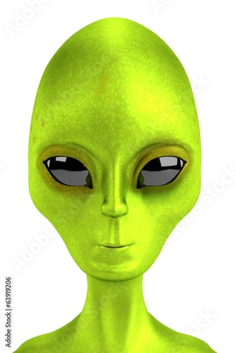realistic 3d render of alien