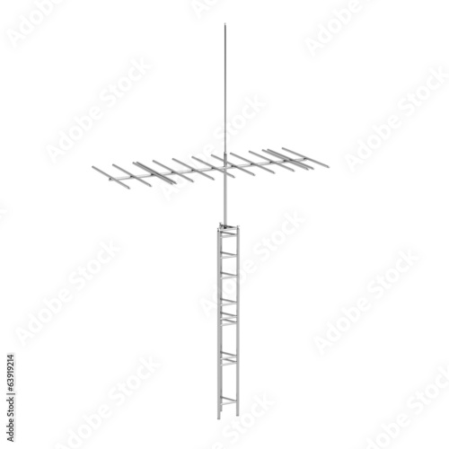 realistic 3d render of antenna