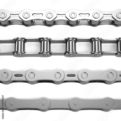 realistic 3d render of bike chains