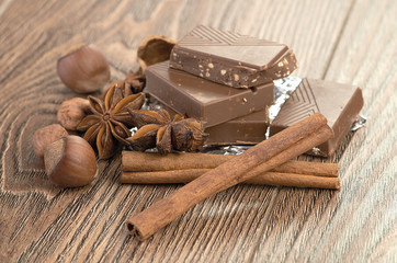 chocolate,nuts and spice