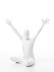 faceless ma hands up