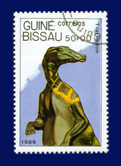 stamp, Dinosaurs, Trachodon, Траходон